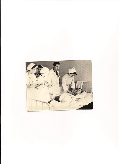 ביקור במחלקה הפנימית בברגובו בשנות החמישים