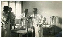 פרופ ורבין במחלקת ילדים בבי